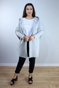 Sweter oversize szary...