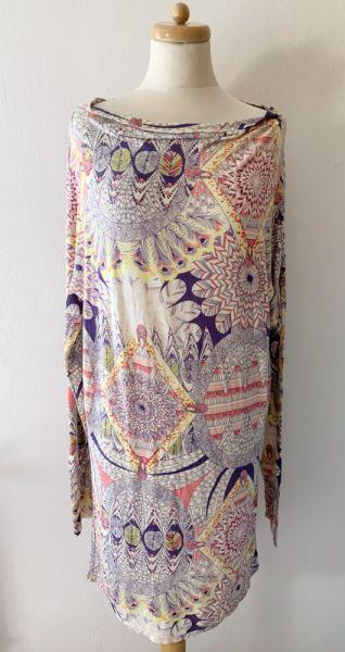 Suknie i sukienki Sukienka Wzory Ciążowa M L 38 40 Mamalicious Brzuszek Boho