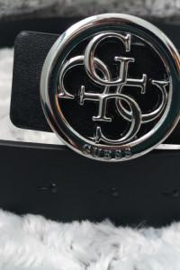 Pasek damski typu Gucci srebrny