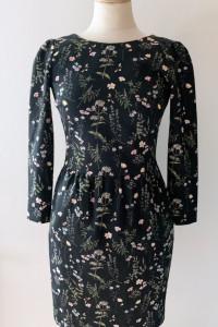 Sukienka Reserved XS 34 Kwiaty Elegancka Kwiatki Midi