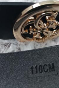 Pasek damski typu Gucci złoty