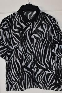 Prześwitująca koszula z krótkim rękawem print zebra House rozmi...