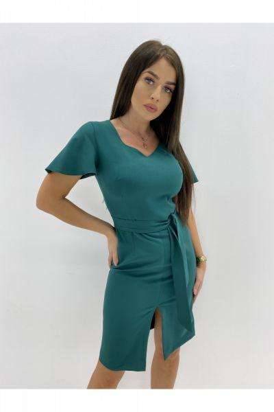 Suknie i sukienki ołówkowa sukienka rozcięcie 36 38 40 42 44 46 KOLOR
