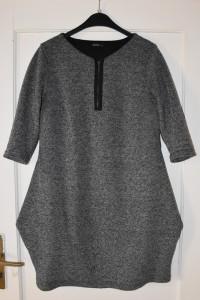 Ciepła sukienka tunika idealna na jesień zimę rękaw 3 4 rozmiar M L