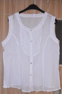 Biała elegancka bawełniana bluzka koszula zapinana rozmiar L XL...