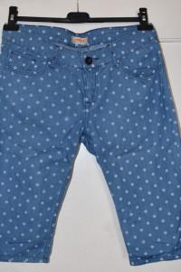Bawełniane cienkie spodnie jeansowe dżinsowe rybaczki białe kro...