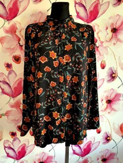 Koszule primark koszula modny wzór kwiaty floral jak nowa hit 46