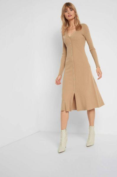 Suknie i sukienki Nowa sukienka Orsay L 40 brązowa karmelowa dzianinowa sweterkowa długa