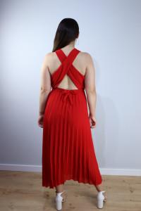 Suknia plisowana czerowna...