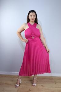 Sukienka plisy fuksja...