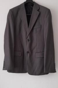 Szary trzyczęściowy garnitur męski L XL