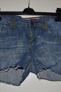 Krótkie spodenki jeansy dżinsy kolorowe szycia rozmiar M L...