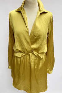 Sukienka Kopertowa Żółta L 40 Prettylittlething Satynowa...