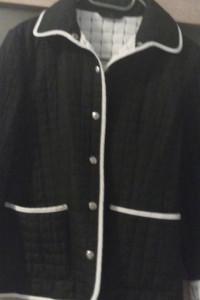 kurteczka pikowana czarno biała...