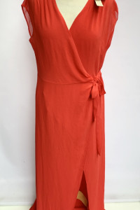 Sukienka Czerwona NOWA Kopertowa Long Maxi Na Kd XL 42