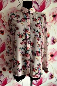 new look koszula mgiełka modny wzór kwiaty nowa hit 44