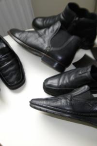Wyprzedaż Zestaw 3 x buty skórzane wygodne 39 czarne...