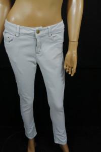 Zara jeansy zip moto XS...