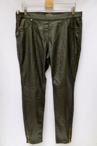 Spodnie Rurki Czarne Woskowane H&M Plus Tregginsy 4XL 48
