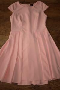 Łososiowa sukienka L