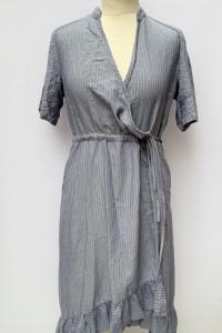 Sukienka Paski Niebieska Msch M 38 Kopertowa Paseczki