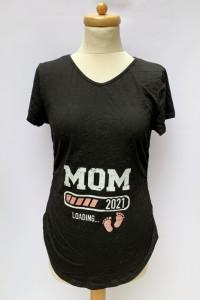 Bluzka Ciążowa Czarna XL 42 Brzuszek Ciąża Mama