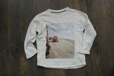 Bluzki Reserved biała bluzeczka bawełniana 110