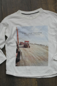 Reserved biała bluzeczka bawełniana 110