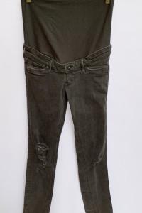 Spodnie H&M Mama Szare S 36 Skinny Dziury Ciążowe...
