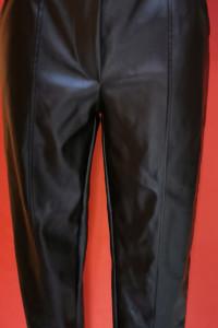 Spodnie z eco skórki wysoki stan...