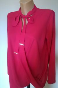 bluzka kopertowa z wiązaniem