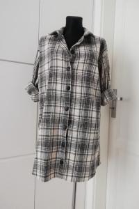 Przedłużana koszula płaszczyk w kratkę asos