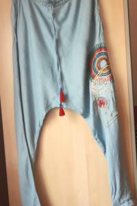 Desigual alladynki spodnie luźne haremki hafty rozmiar 32...