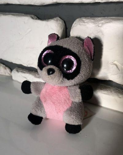 Zabawki TY Beanie Boo szop Rocco różowo szary maskotka breloczek 9 cm BDB