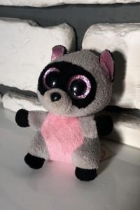 TY Beanie Boo szop Rocco różowo szary maskotka breloczek 9 cm B...