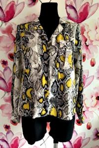 f&f koszula luźny fason modny wzór węża skóra nowa 40