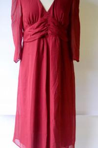 Sukienka Czerwona Asos Maternity L 40 Mama NOWA...