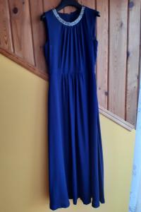 Sukienka granatowa maxi firmy Orsay rozm 38 M