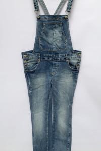 Ogrodniczki Dzinsowe Jeans Fishbone L 40 Przetarcia