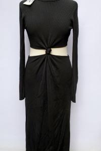 Sukienka Long Zara Czarna Nowa M 38 Prosta Wycięcia...