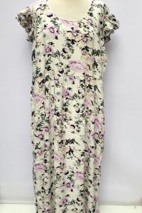 Sukienka Maxi Long Kwiaty Zizzi M 38 Dluga Biała Rozkloszowana