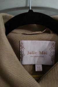 Płaszcz Jolie Moi rozmiar 38 40 beżowy