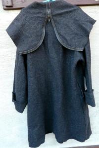 Trencz płaszcz w stylu boho wełna rozmiar 42