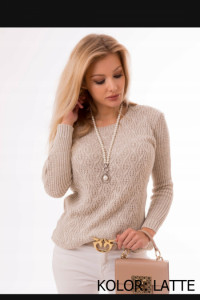 Sweter damski ażurkowy