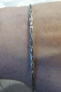 srebrne kółko zawijaski