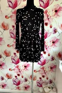asos sukienka plisowana modny wzór grochy groszki hit 38...