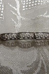 bransoletka srebrna wzór grecki