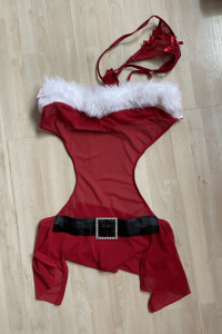 Mikołajka Ann Summers kostium mikołajki góra i stringi