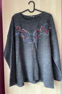 Zara nowy sweter hafty cekiny