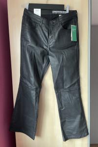 HM nowe spodnie flare eko skóra skórzane woskowane...